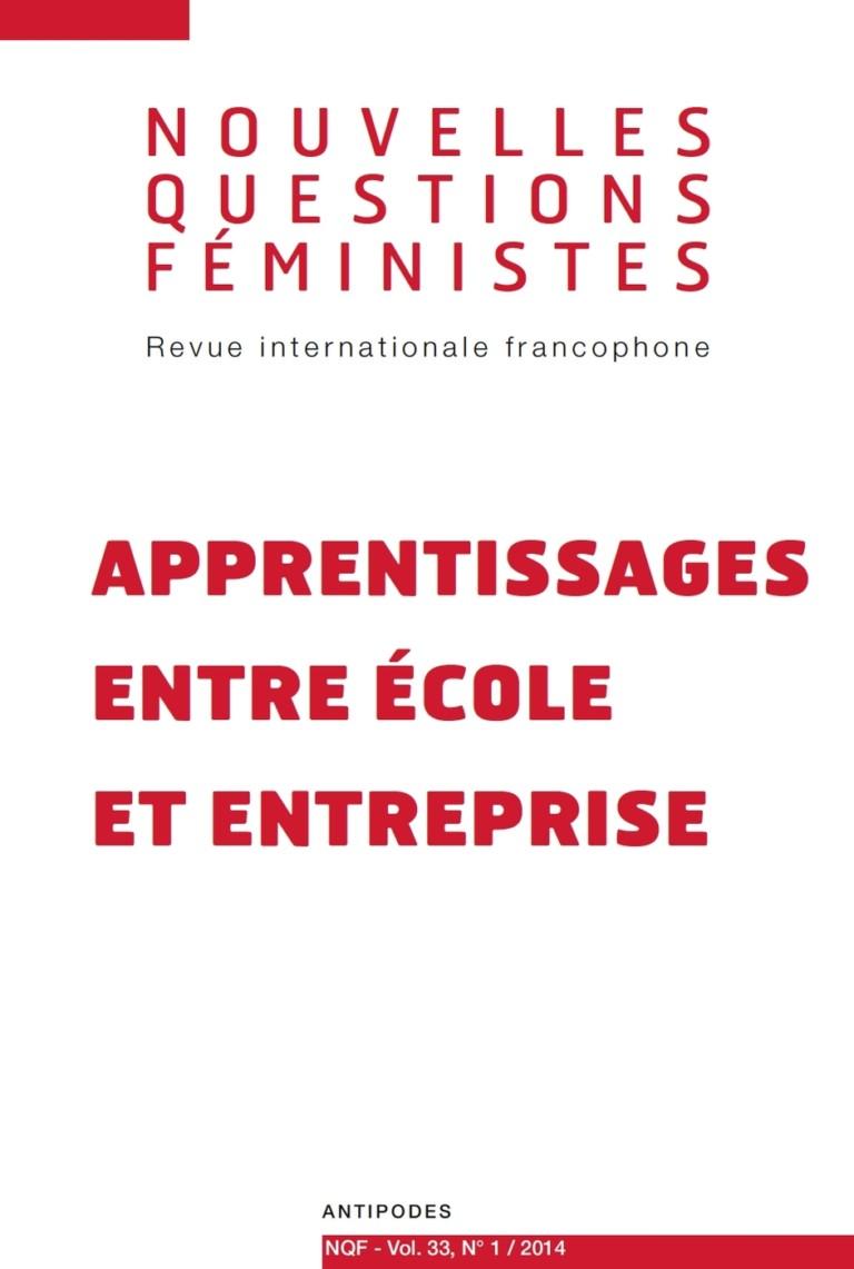 Nouvelles questions feministes Apprentissages entre école et entreprise