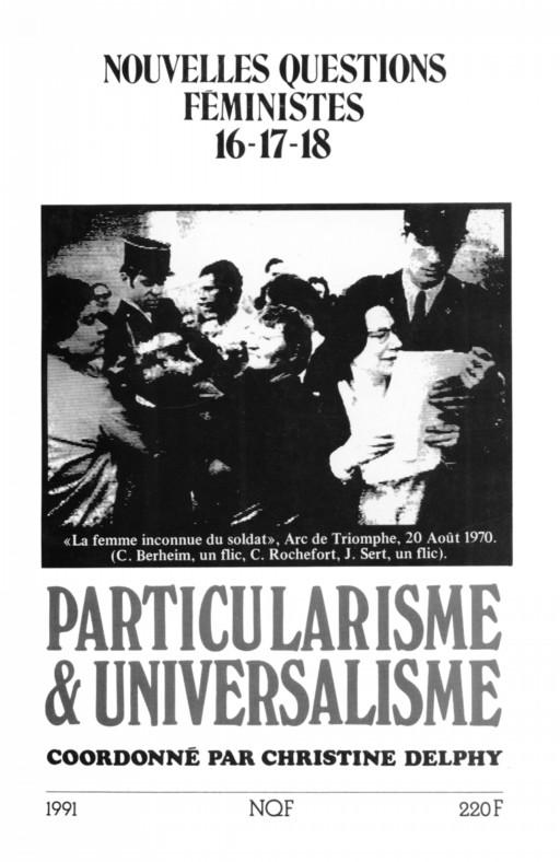 Nouvelles questions feministes Particularisme & universalisme