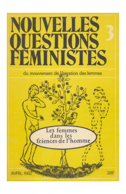 Nouvelles questions feministes Les femmes dans les fciences de l' homme
